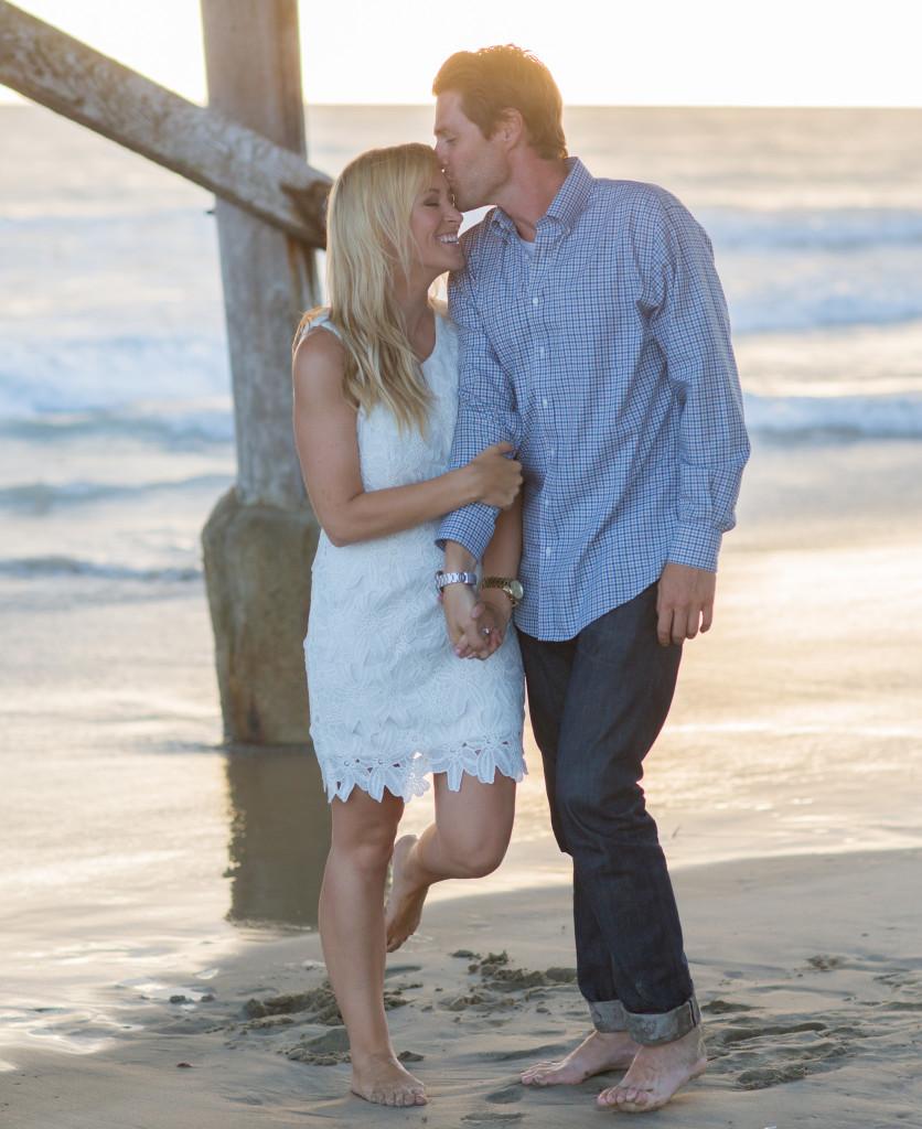 california coast engagement photos, california engagement photos, forehead kiss