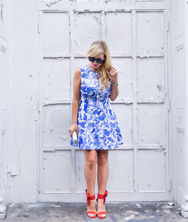 NYC blue floral dress