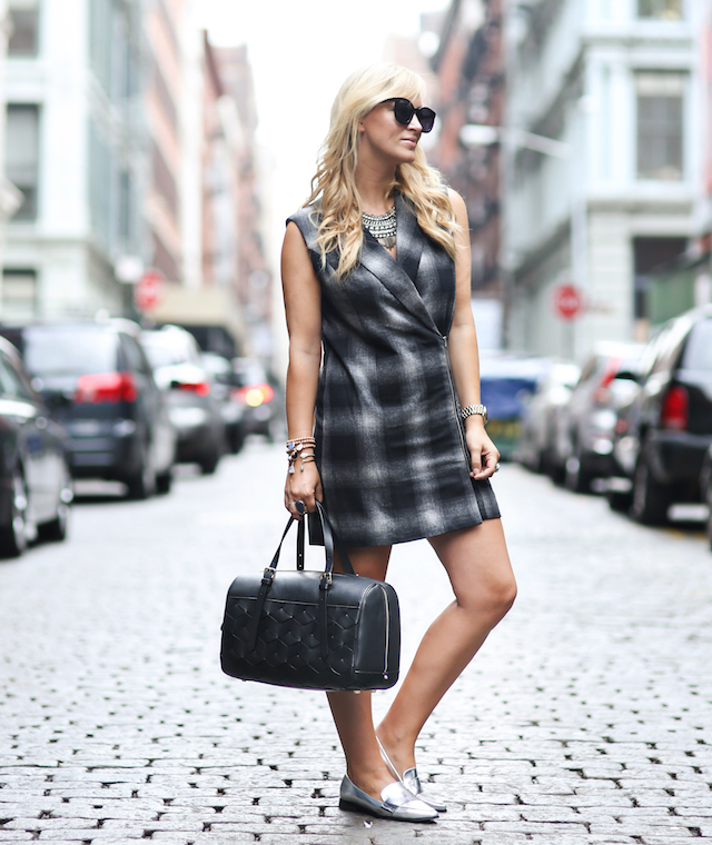 NYFW silver loafers