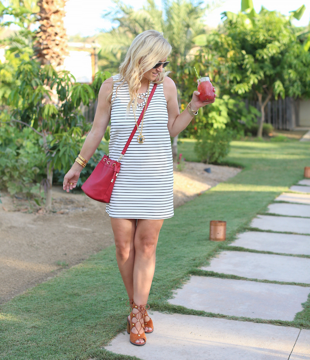 flora farms striped dress 2