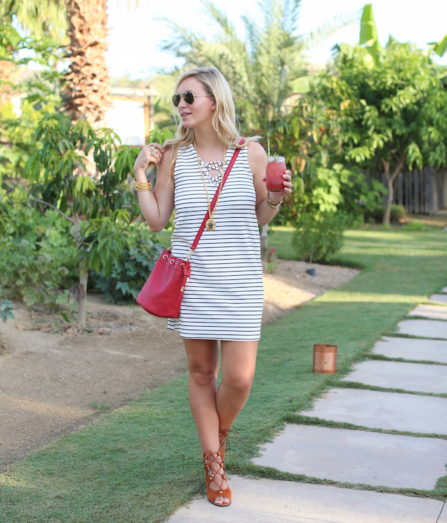 floral farms striped dress