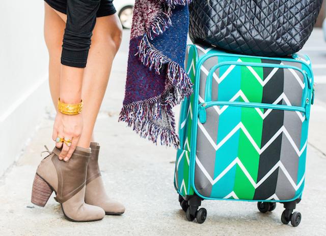 chevron print suitcase