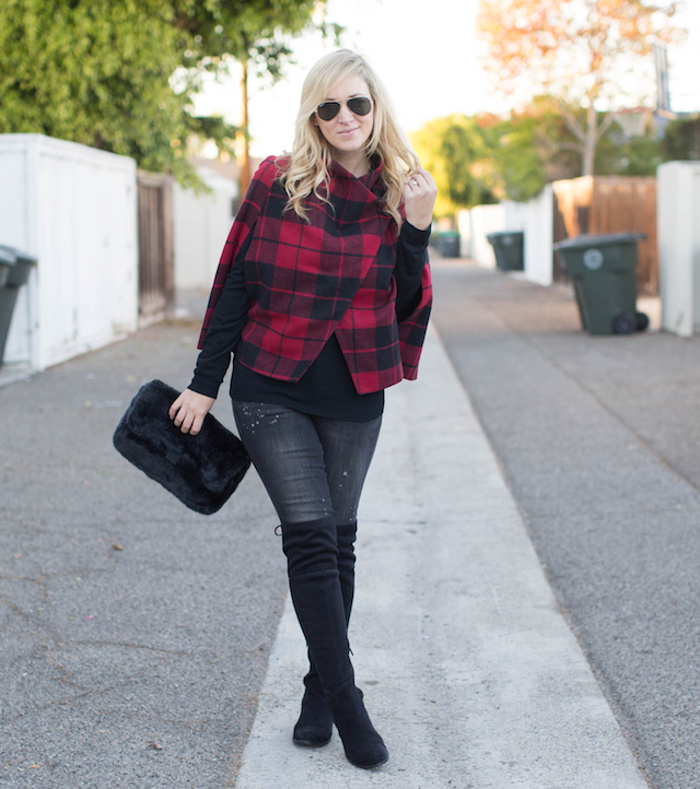 jeans and over the knee boots