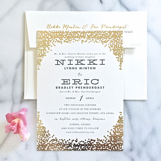 minted wedding invite