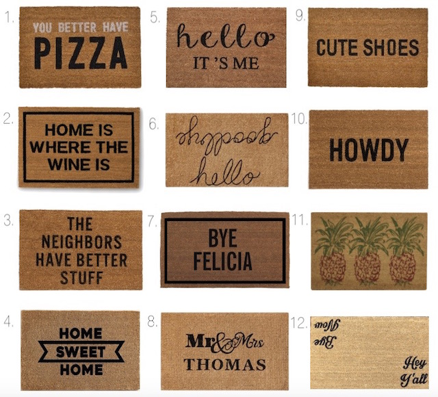 best doormats  sc 1 st  My Style Diaries & Home Finds: 12 Best Doormats - My Style Diaries