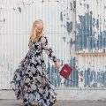floral maxi dress, best maxi dress, henri bendel bag