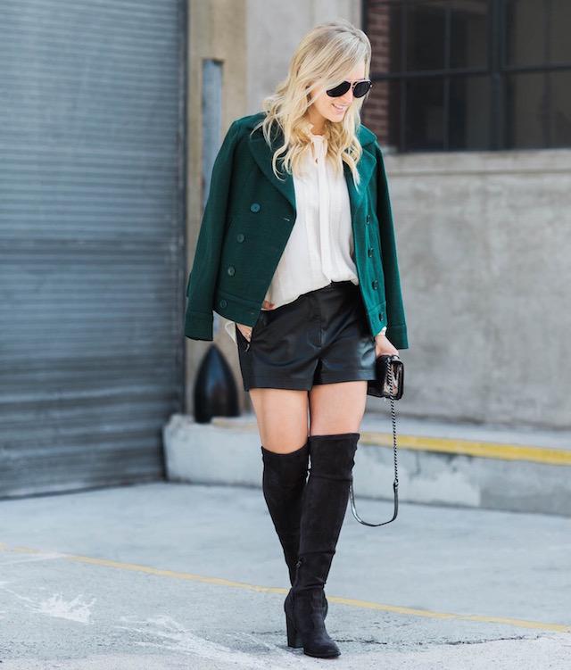 holiday style leather shorts