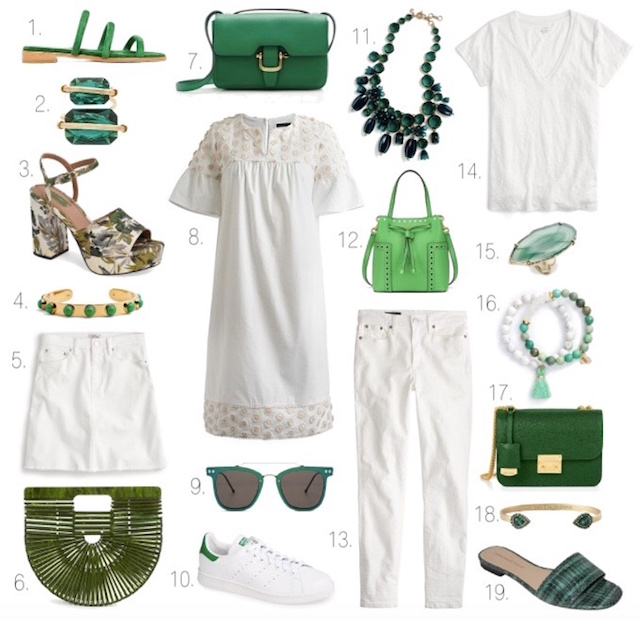 green-and-white