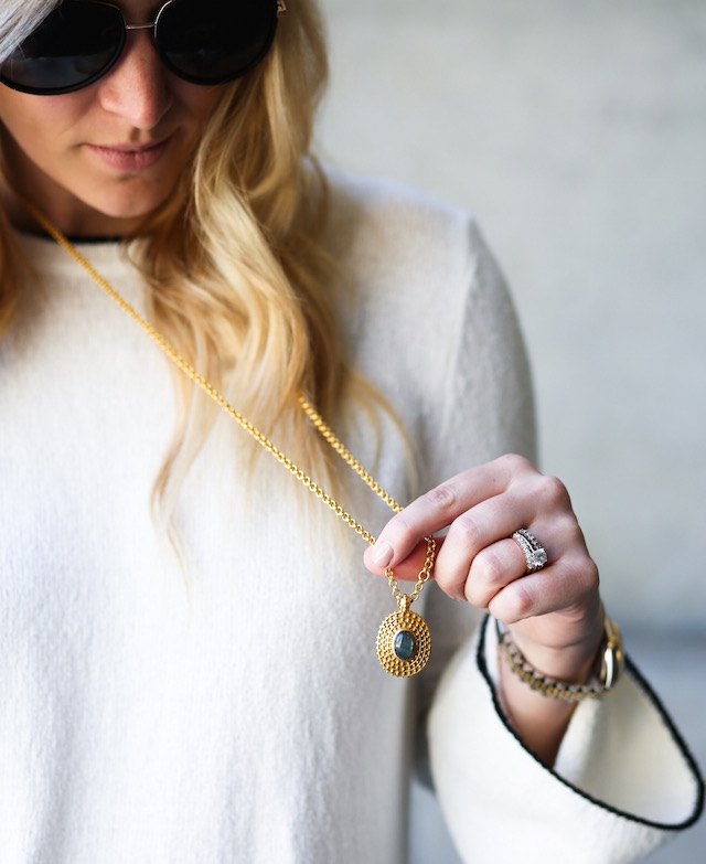 Orange County fashion blogger Nikki Prendergast wears an affordable spring sweater from the Who What Wear X Target spring collection.