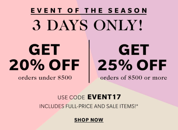 Shopbop 3-day sale
