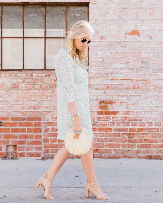 Orange County fashion blogger Nikki Prendergast of My Style Diaries in a Victoria Beckham for Target dress.