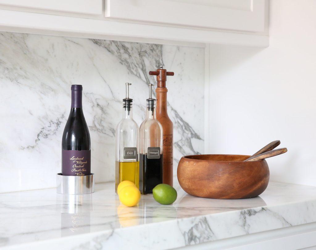 Calacatta marble kitchen details