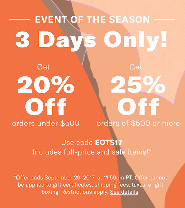 Shopbop End of Season Sale