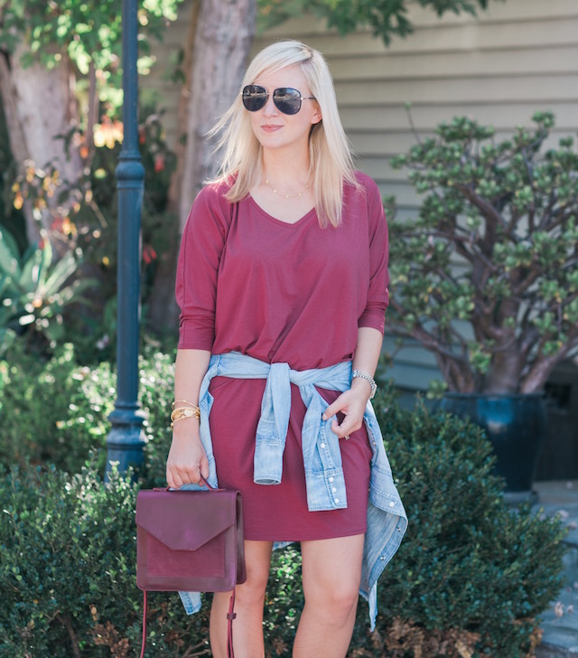 Fashion blogger Nikki Prendergast in a (FASHION) ABLE dress and bag with leopard booties