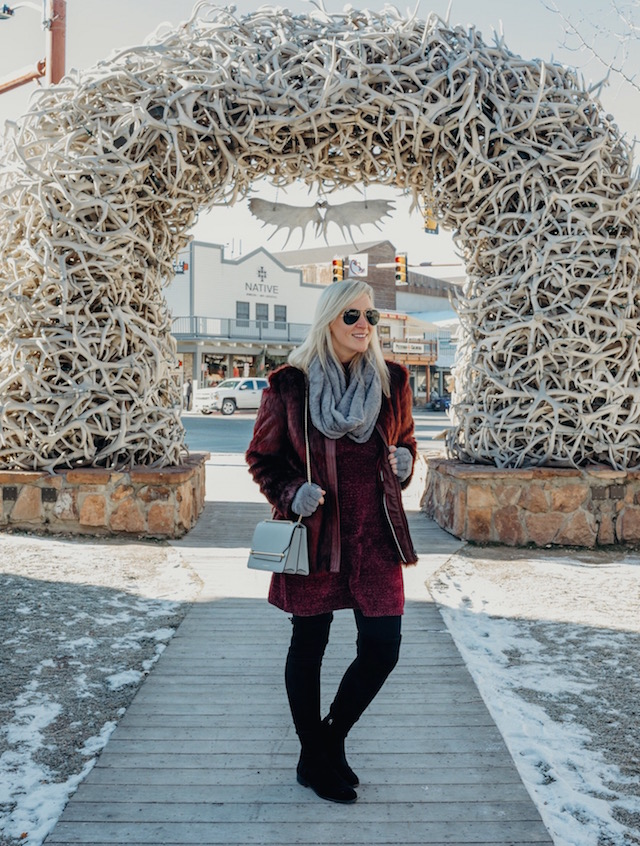 Elk antler arches in Jackson Hole, Wyoming
