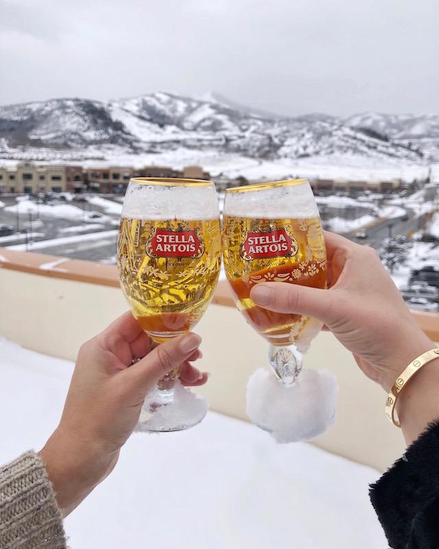 Stella Artois cheers in Park City, Utah