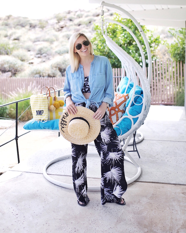 La Blanca swimsuit and pants in Palm Springs, CA