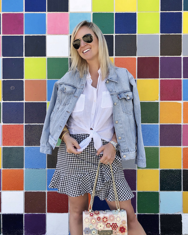 My Style Diaries blogger Nikki Prendergast   Mural wall in La Jolla, CA