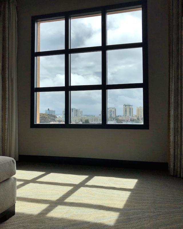 View from guest room at Hyatt Regency La Jolla