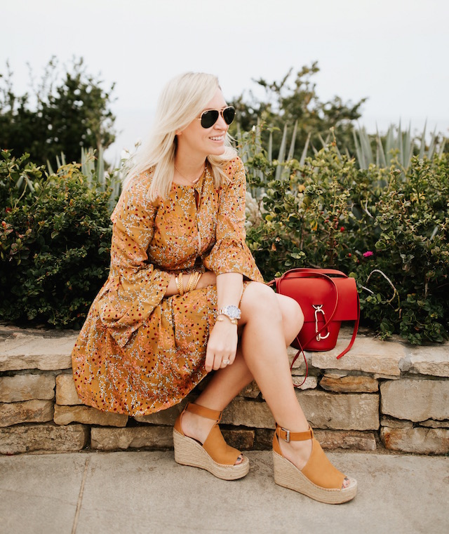 My Style Diaries blogger Nikki Prendergast | Lucca Couture dress, Zac Zac Posen handbag, Marc Fisher wedges, Julie Vos bangles