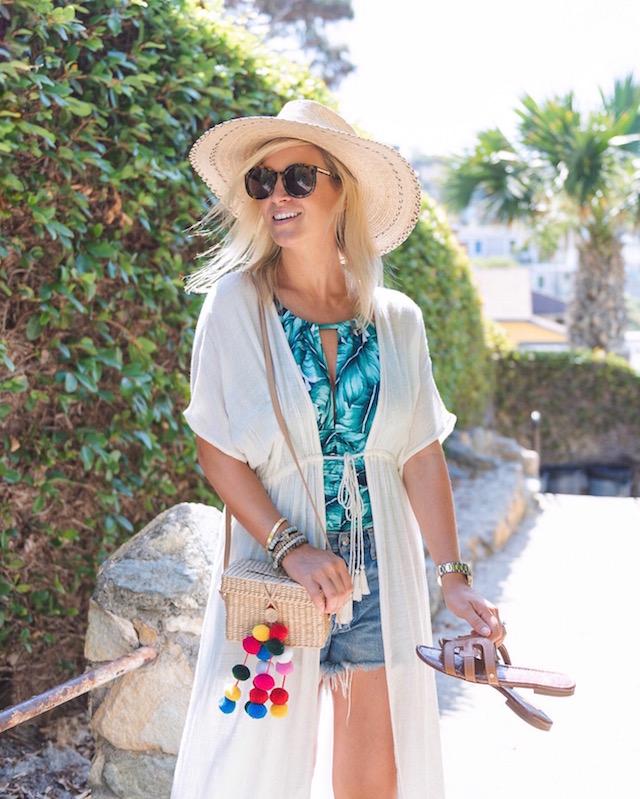 Magicsuit palm print swimsuit and Brixton hat | My Style Diaries blogger Nikki Prendergast