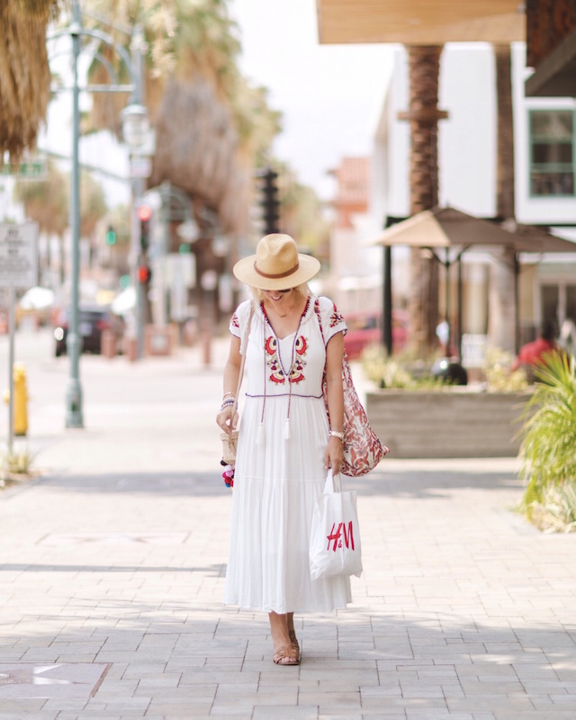 Free People midi dress in Palm Springs | My Style Diaries blogger Nikki Prendergast