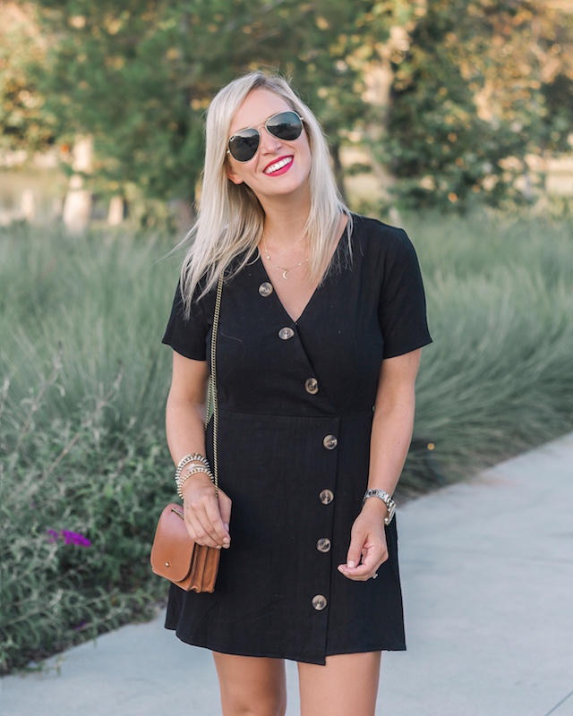 My Style Diaries blogger Nikki Prendergast in Moon River dress and Madewell leopard mules