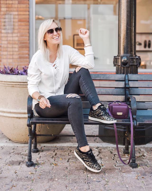 Madewell denim, Splendid tee, Tretorn sneakers, Zac Zac Posen handbag   My Style Diaries blogger Nikki Prendergast