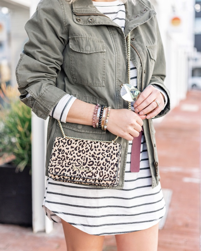 Billabong dress, Madewell jacket, Marc Fisher booties | My Style Diaries blogger Nikki Prendergast