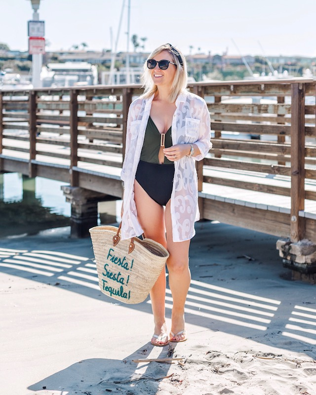 Amoressa swimsuit, Lilly Pulitzer coverup | My Style Diaries blogger Nikki Prendergast on Balboa Island