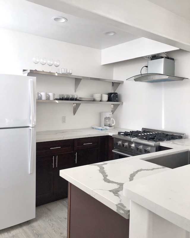 Clean and bright kitchen area | Balboa Island Airbnb Vacation Rental