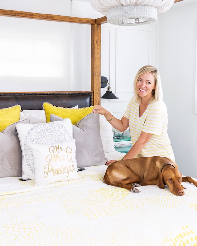 Master bedroom summer refresh with West Elm bedding | My Style Diaries blogger Nikki Prendergast