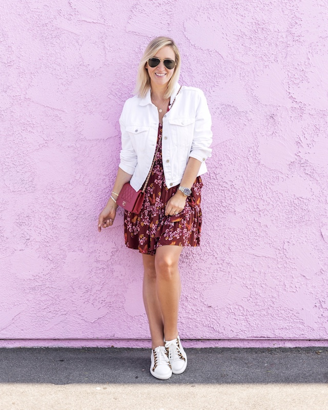 Madewell dress, H&M jacket, Johnston & Murphy sneakers, Chanel WOC | My Style Diaries blogger Nikki Prendergast