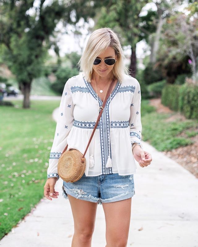 $10 Pistola shorts, Aqua top | My Style Diaries blogger Nikki Prendergast
