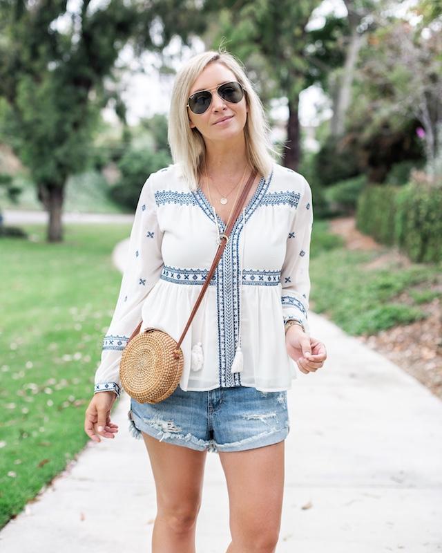 Pistola shorts, Aqua top | My Style Diaries blogger Nikki Prendergast