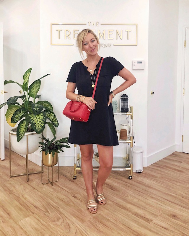 Z Supply dress, Kaanas sandals, Saint Laurent handbag | My Style Diaries blogger Nikki Prendergast