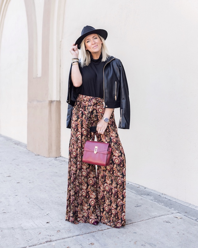 Styling Free People wide leg pants for fall | My Style Diaries blogger Nikki Prendergast