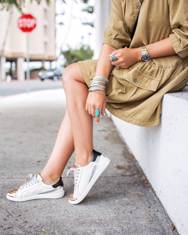 Dolce Vita metallic sneakers | My Style Diaries blogger Nikki Prendergast
