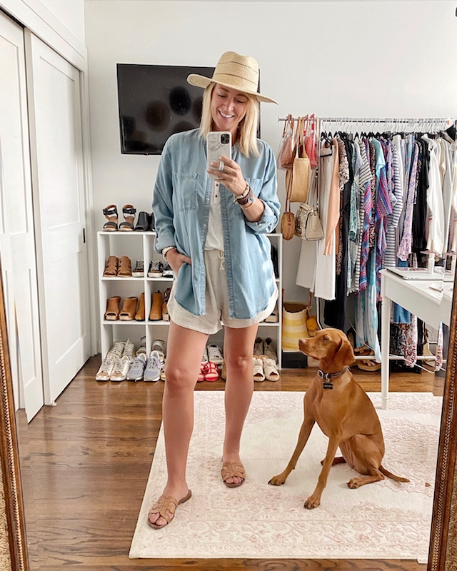linen and chambray summer uniform | My Style Diaries blogger Nikki Prendergast