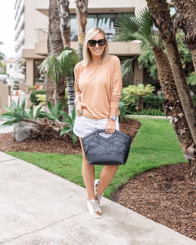 Best white denim shorts | My Style Diaries blogger Nikki Prendergast