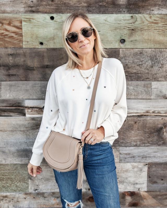 Star embroidered sweatshirt | My Style Diaries blogger Nikki Prendergast