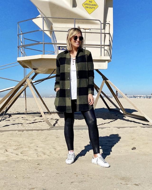 BB Dakota shacket and Spanx leggings | My Style Diaries blogger Nikki Prendergast