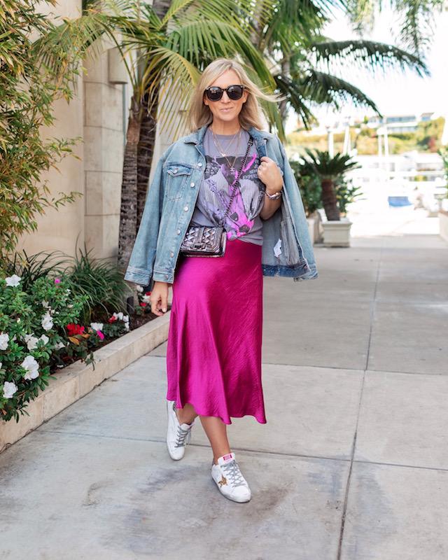 How to style a satin midi skirt | My Style Diaries blogger Nikki Prendergast