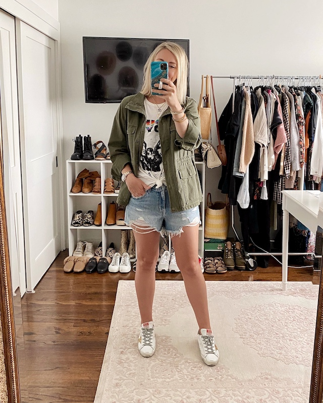 Pistola denim shorts for spring | My Style Diaries blogger Nikki Prendergast