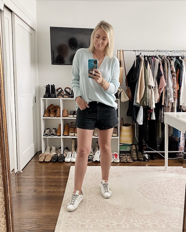 Daze Denim shorts for spring | My Style Diaries blogger Nikki Prendergast
