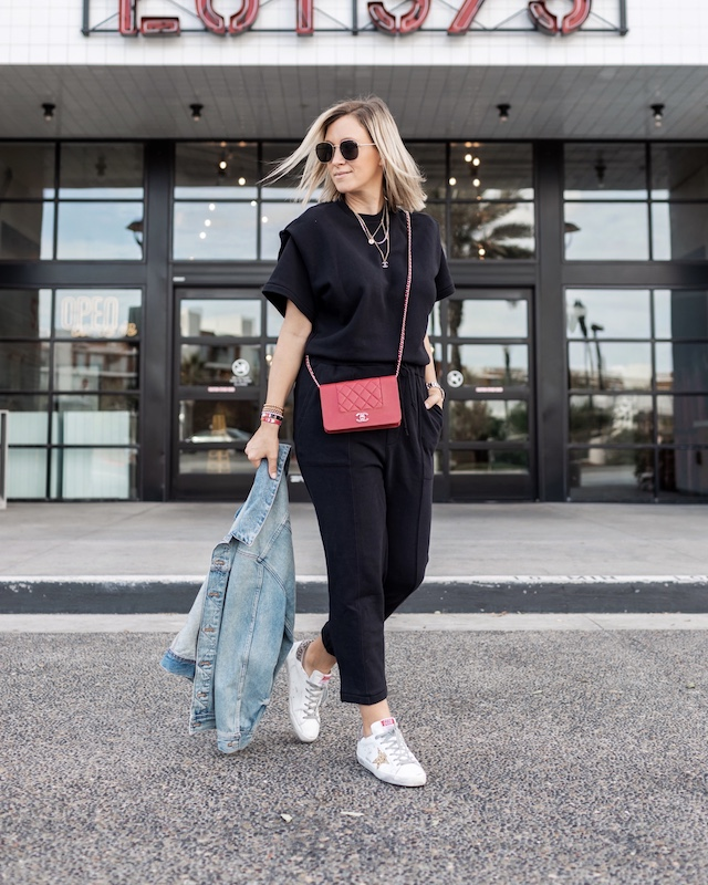 Pistola jumpsuit, Chanel WOC, Golden Goose sneakers | My Style Diaries blogger Nikki Prendergast