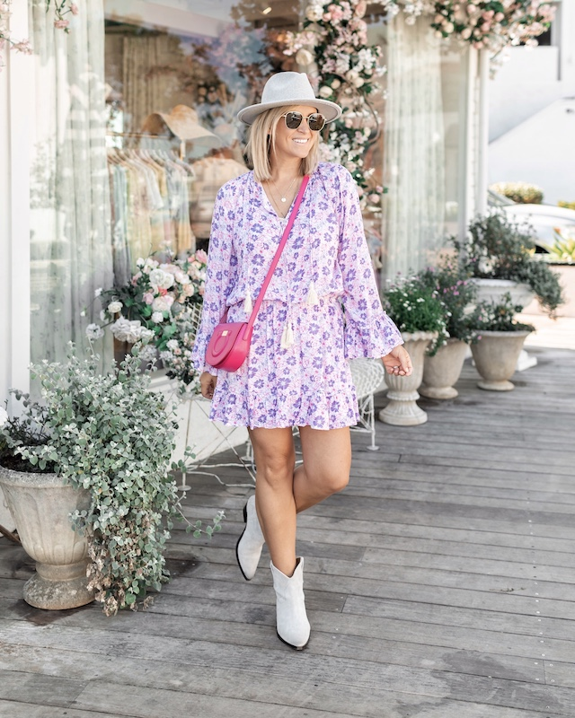 Coolchange floral tunic and Isabel Marant booties | My Style Diaries blogger Nikki Prendergast