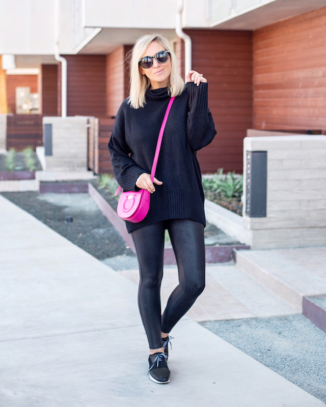 Spanx faux leather leggings in the Nordstrom Anniversary sale | My Style Diaries blogger Nikki Prendergast