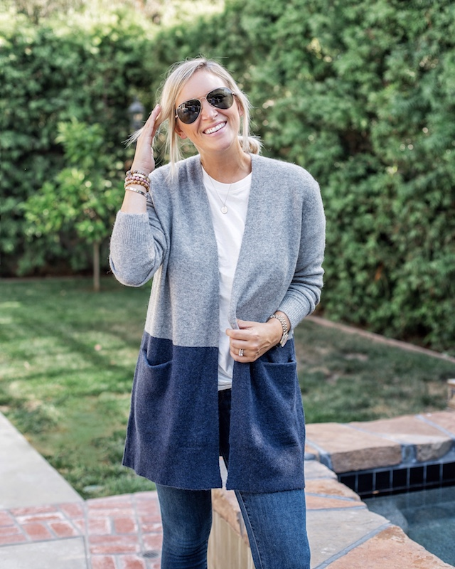 Madewell cardigan on sale in the Nordstrom Anniversary sale | My Style Diaries blogger Nikki Prendergast
