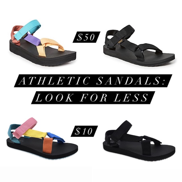 Athletic sandals look for less | My Style Diaries blogger Nikki Prendergast